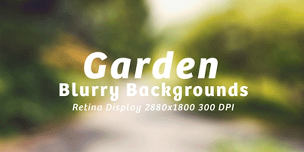 15 Garden Blurry Backgrounds