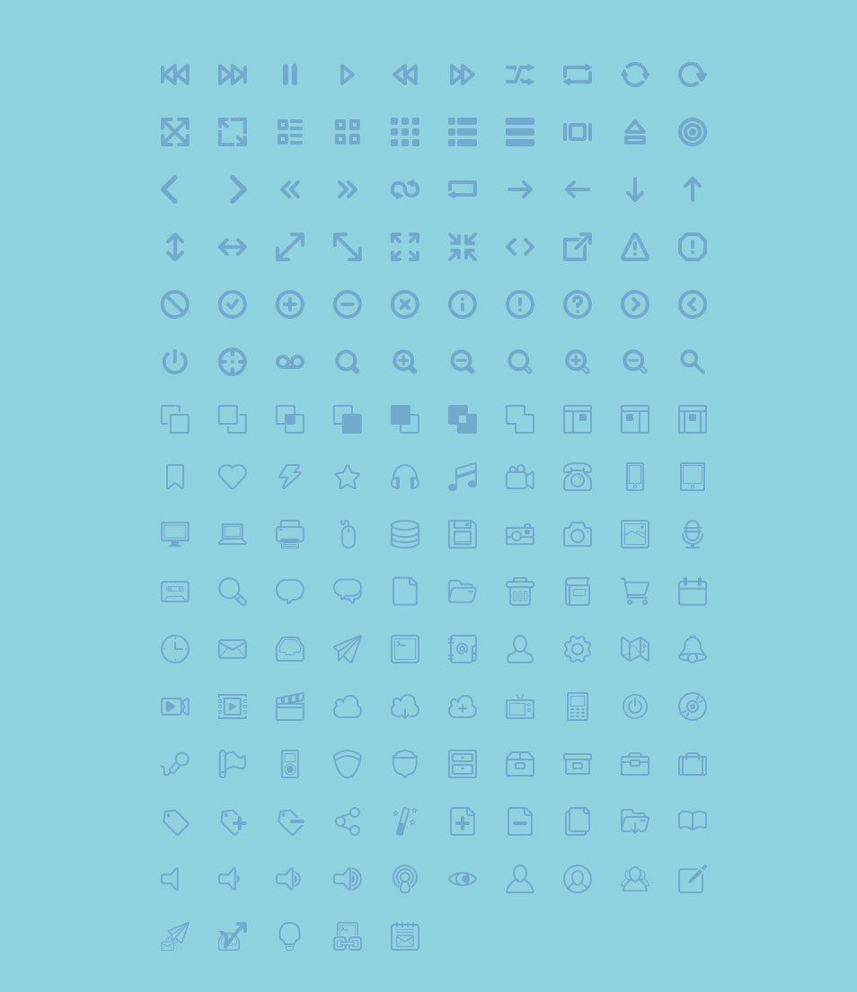 155 Free Curve Icons Collection for UI Design