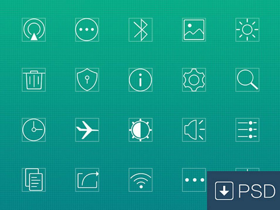 20 settings line icons