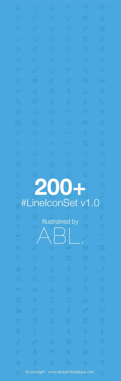 200+ LineIconSet v1.0