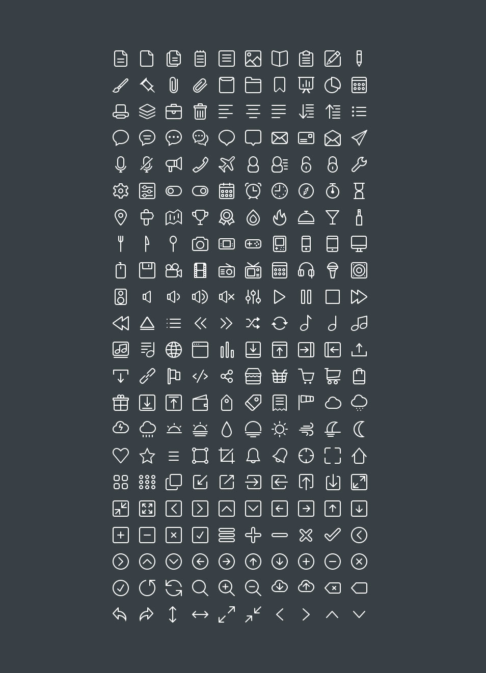 220 Free Line Icon Set