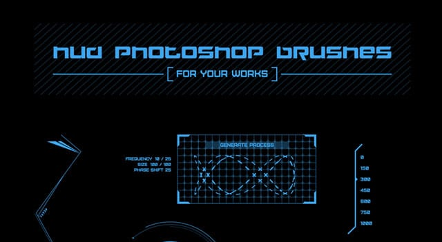 23 Free HUD Photoshop Brushes
