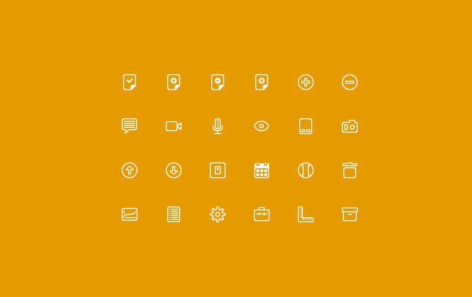24 Free Line icons PSD