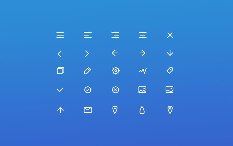 25 Free Line Icon Set