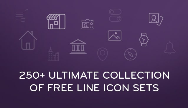 250+ Ultimate Collection of Free Line Icon Sets
