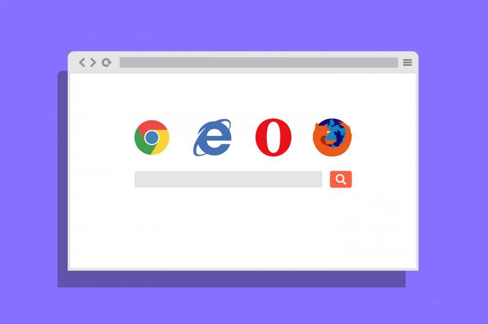 2D Flat Browser Mockup PSD