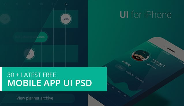 30 + Latest Free Mobile App UI PSD Designs