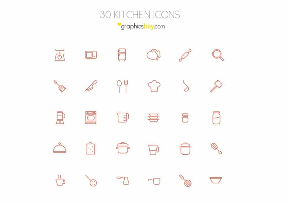 30 exclusive kitchen icons