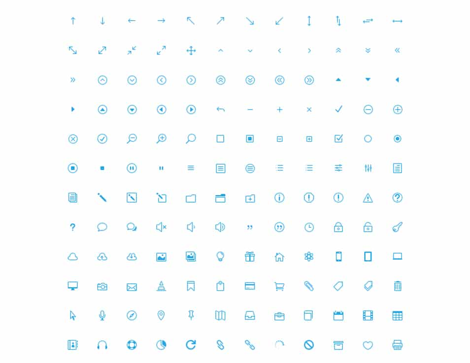 360 Free Icons (Icon Font)