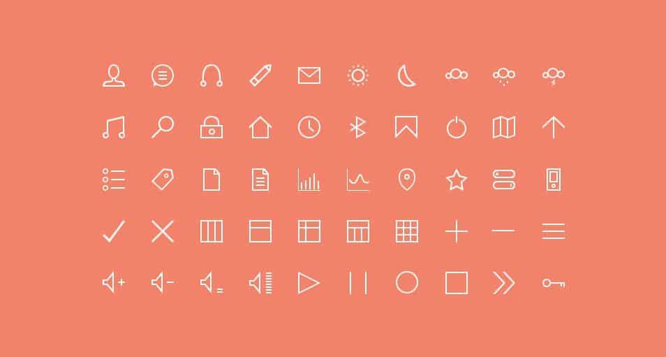 50 Thin Custom Icons