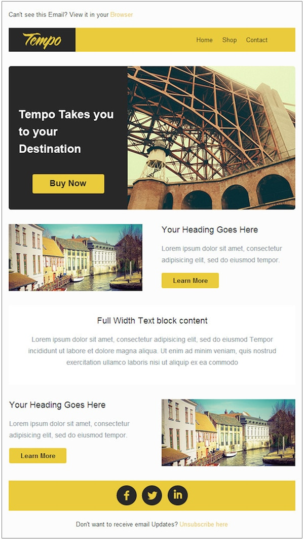 7 Free Email Templates from Stampila