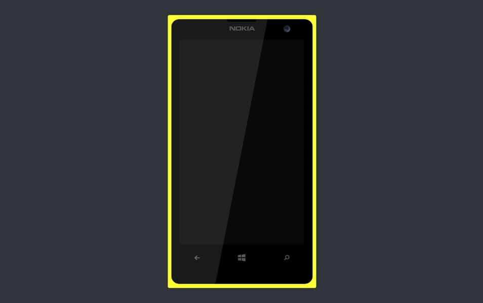 A simple Lumia 1020 psd