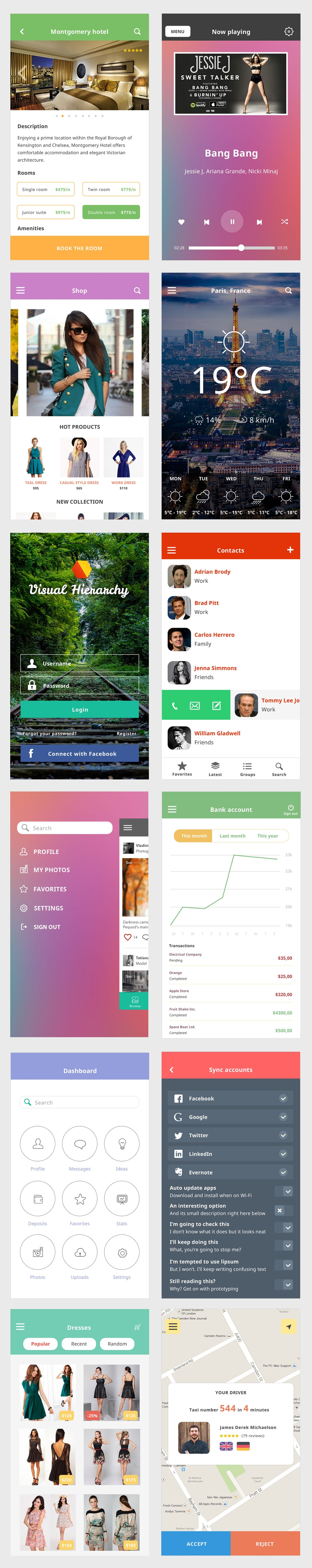 Ace iOS8 Mobile UI Kit PSD