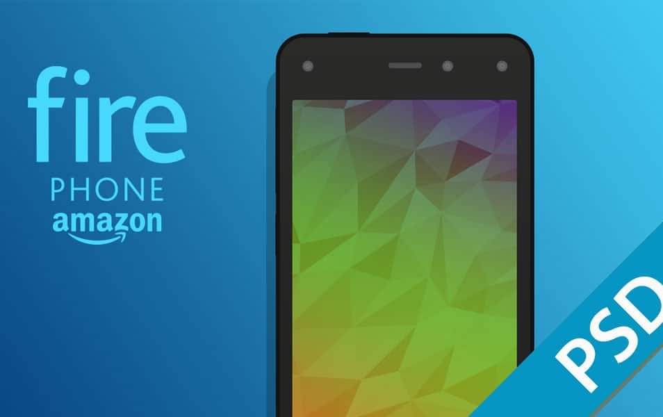 Amazon Fire Phone Flat Mockup