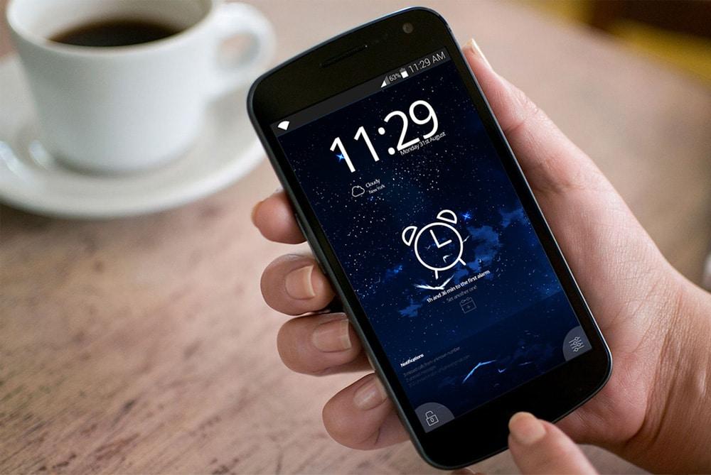 Android Alarm App UI PSD