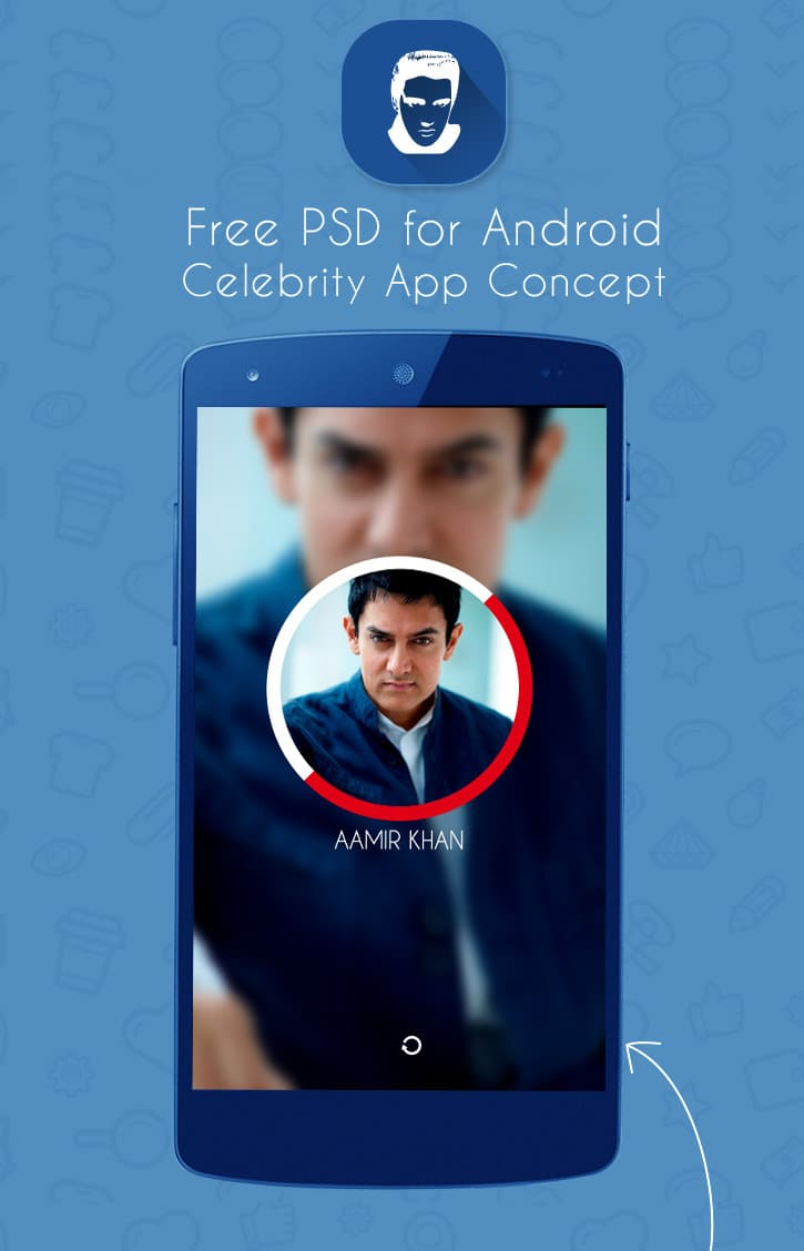 Android Celebrity Mobile App Concept UI PSD