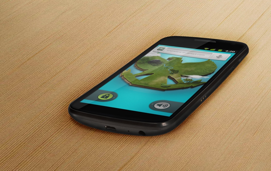 Android Galaxy Nexus 3 Mock-up PSD