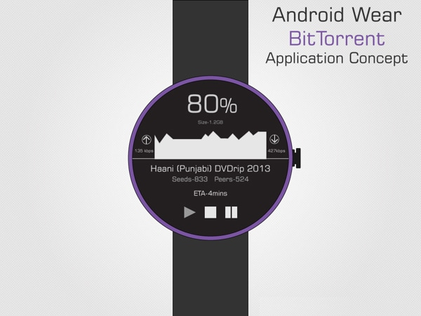 Android Wear BitTorrent Application Concept