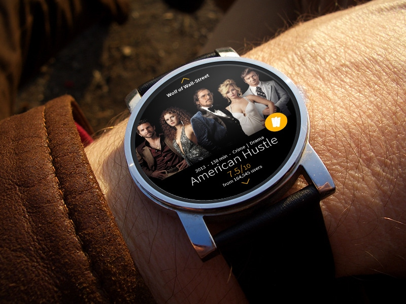 Android Wear interface for IMDB