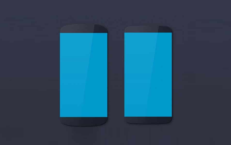 Android devices mockups (Nexus, LG, Galaxy)