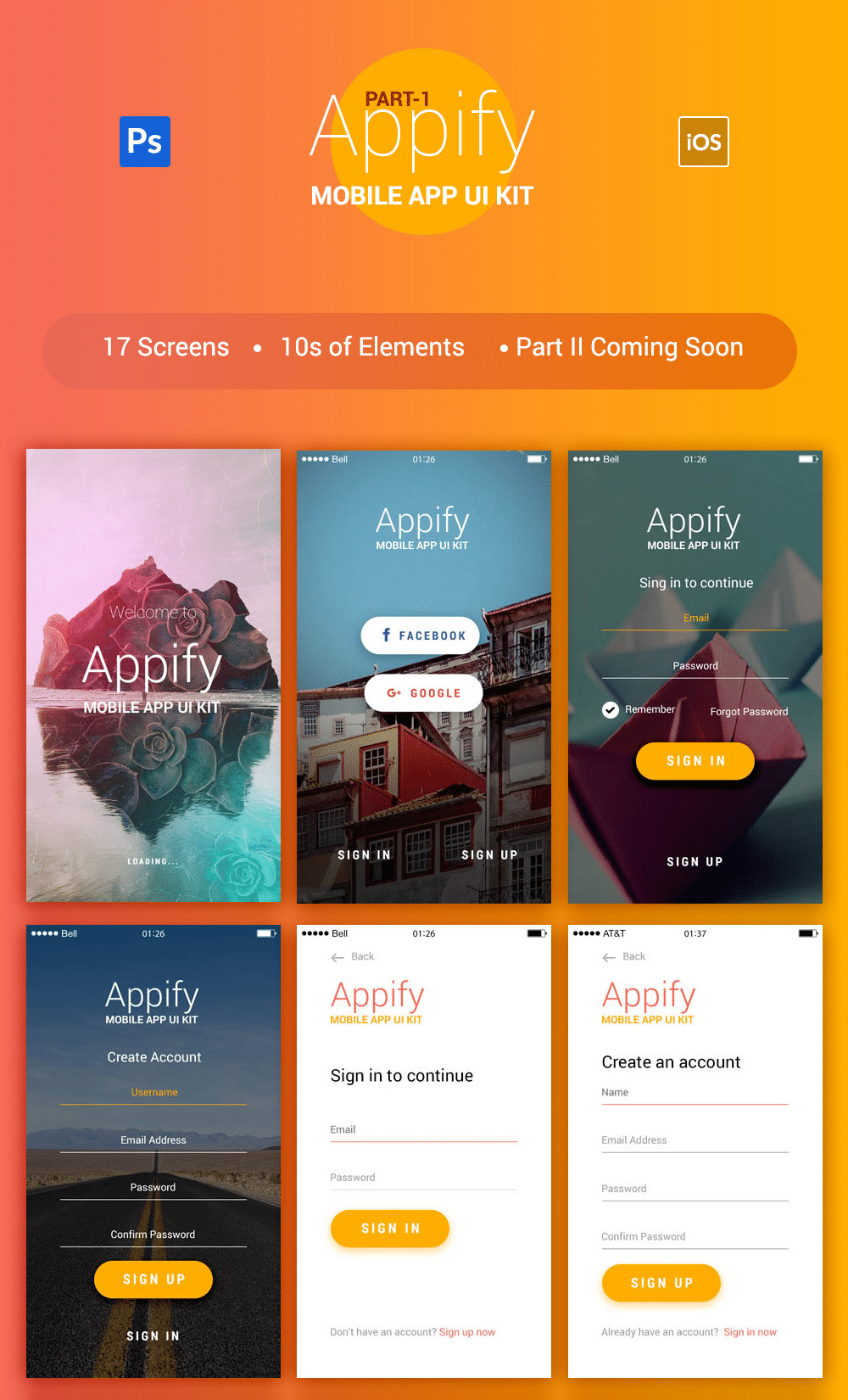 Appify-Free-Mobile-App-UI-Kit-PSD