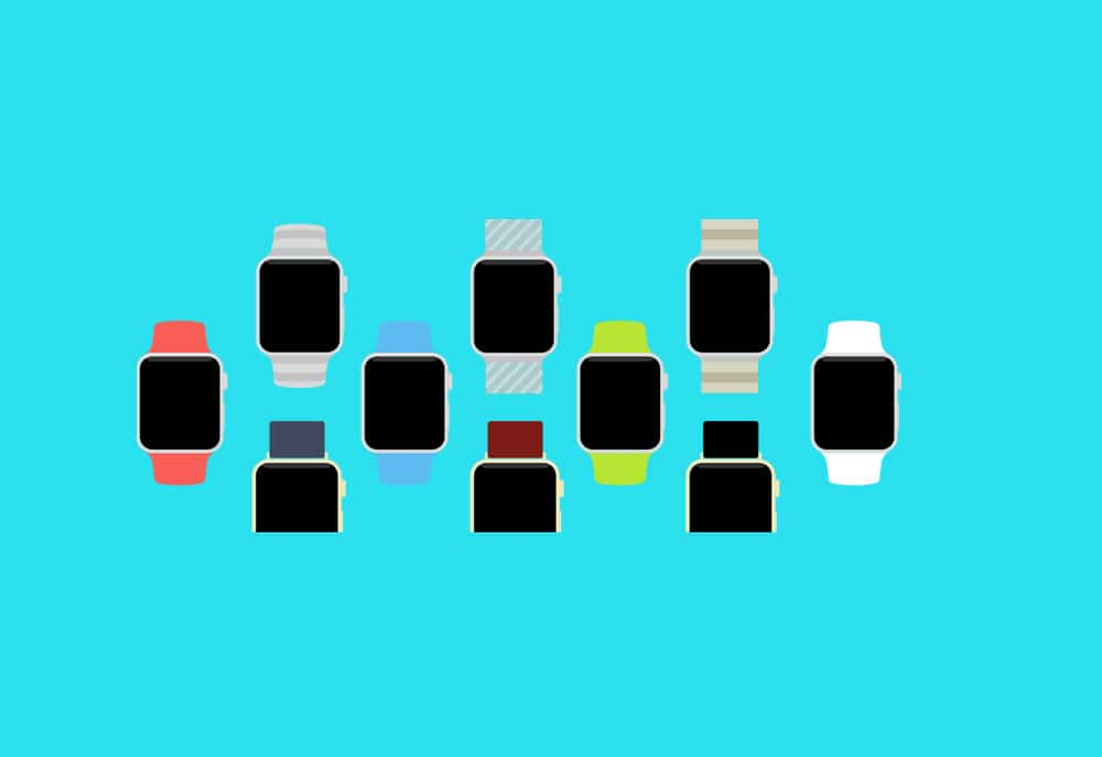 Apple Watch Flat Template PSD