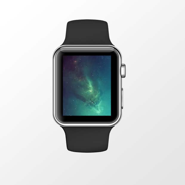 Apple Watch Sport Mockup PSD