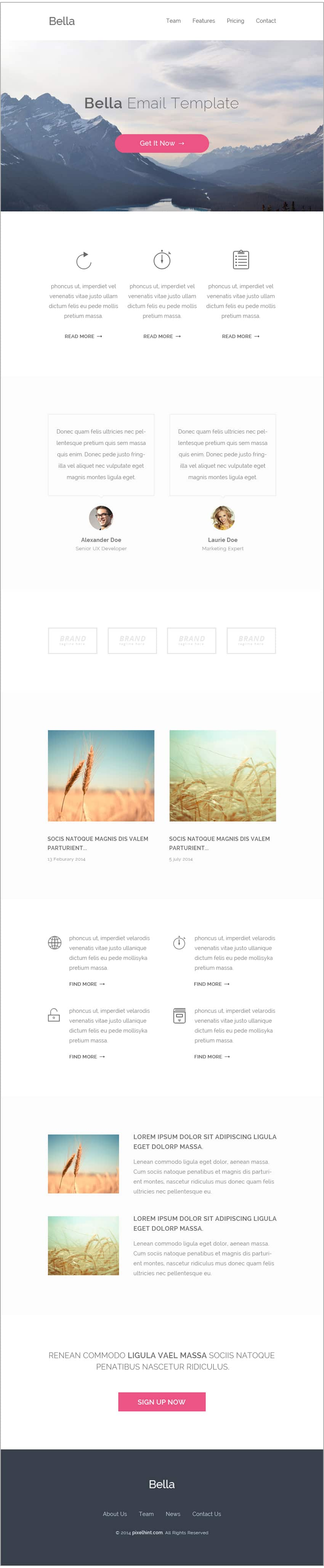 Bella-Free-Email-Template