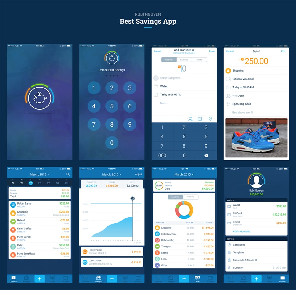 Best Savings App PSD