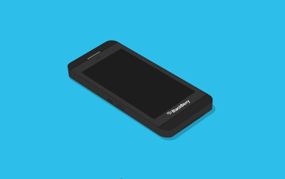 BlackBerry Z10 Flat MockUp