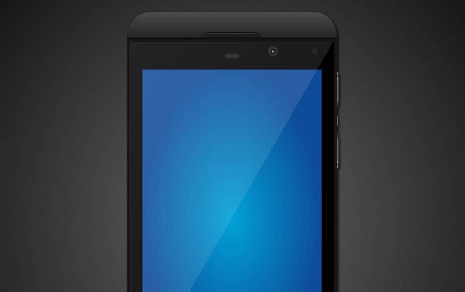 BlackBerry Z10 Mock-up PSD