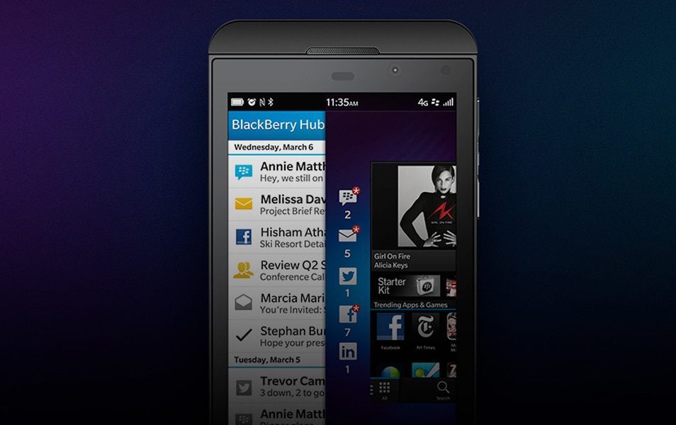 Blackberry Z10 Device Mockup (PSD)