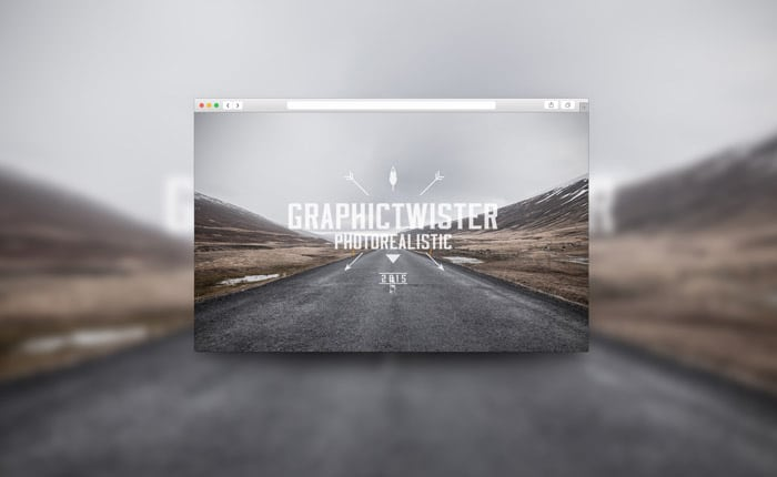 Blurred Background Browser PSD