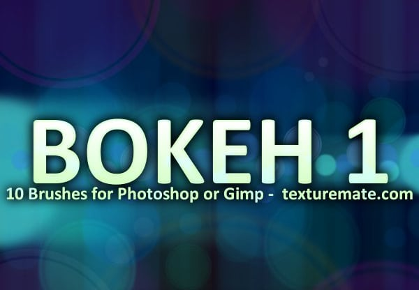 Bokeh 1 Brush Pack for Photoshop or Gimp