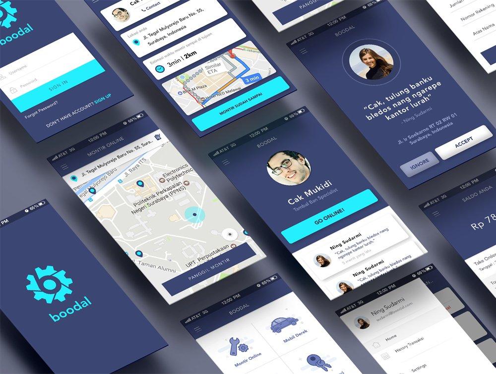 Boodal App UI PSD