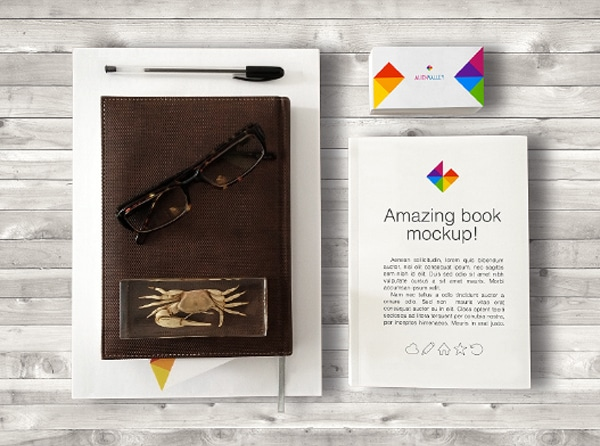 Book And Business Card Mock up