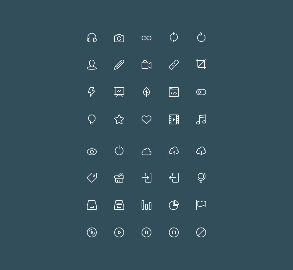 Buddha Line Icons Set Vol.2