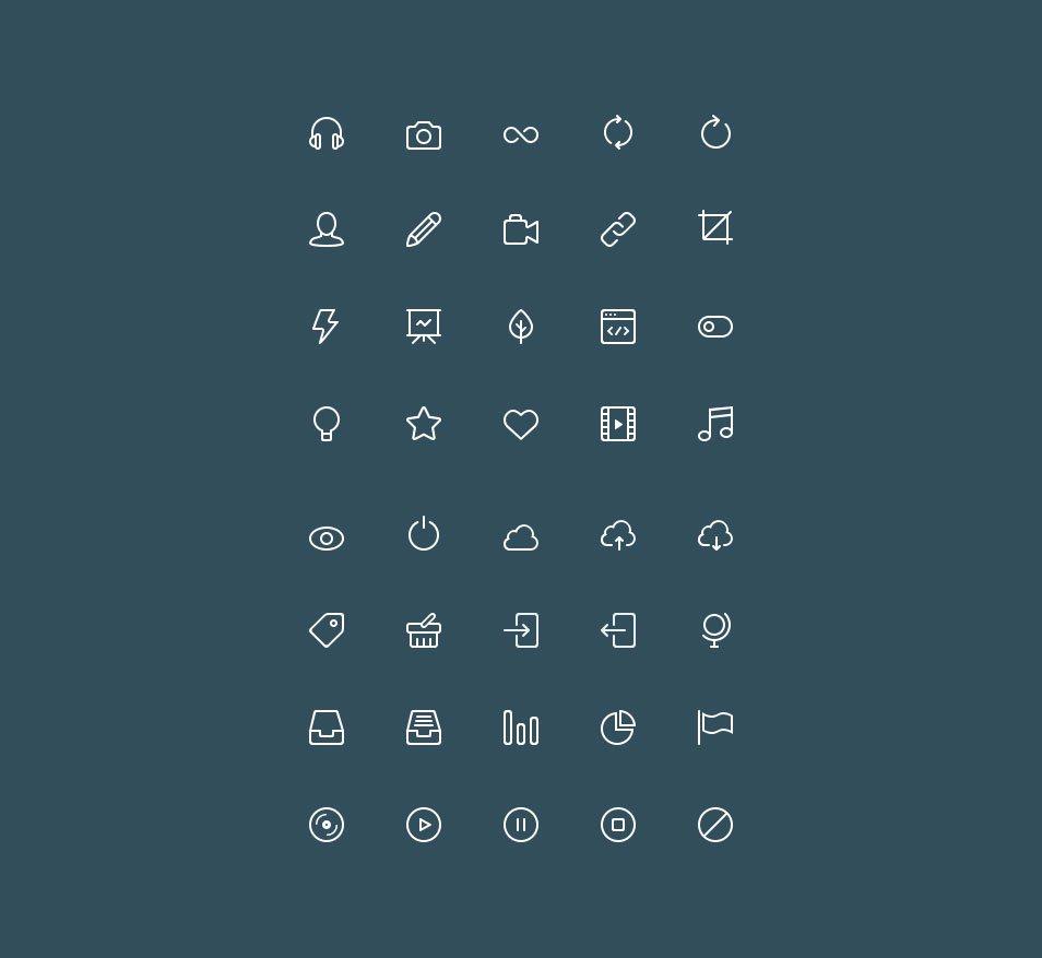Buddha Line Icons Set Vol.2
