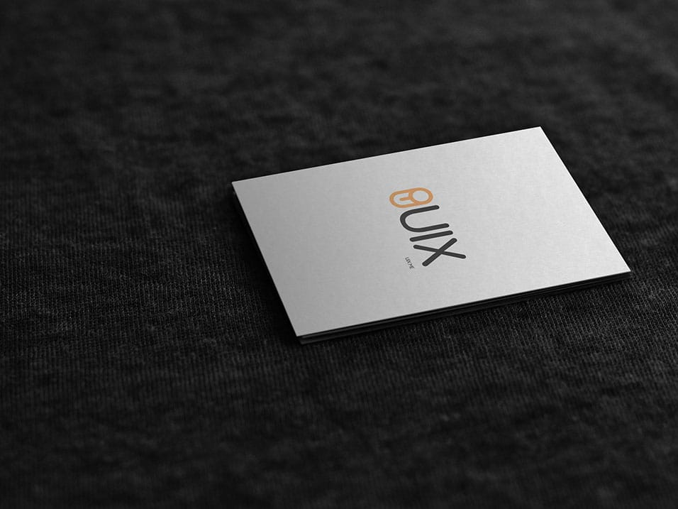 Business Card Mockup on fabric