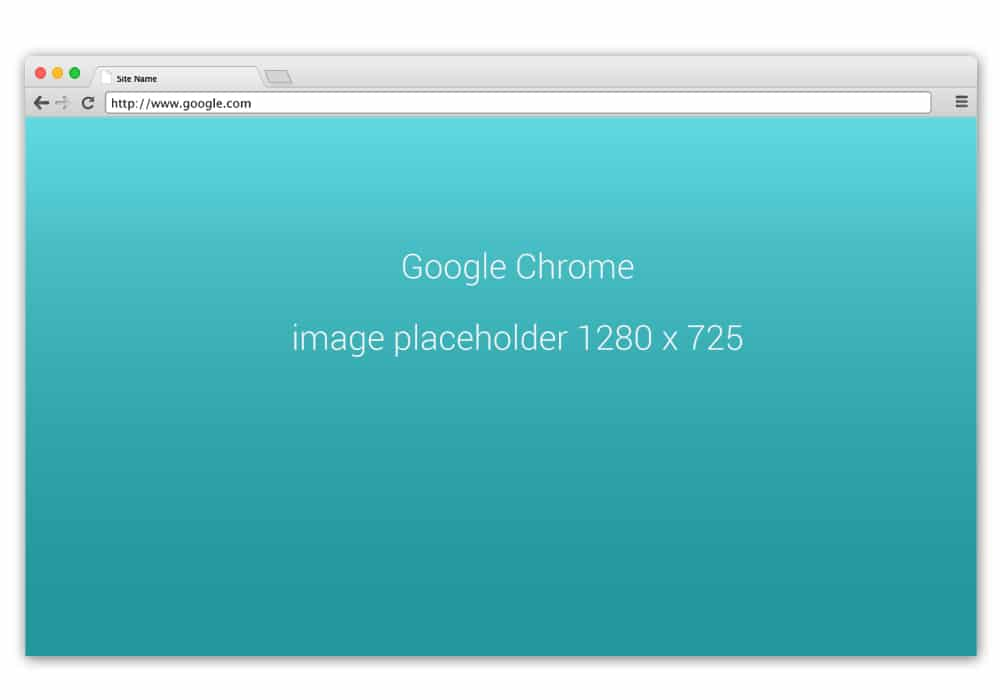 Chrome Browser Mockup PSD