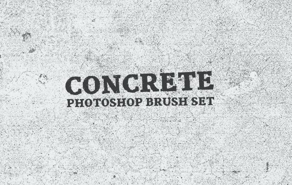 Concrete Photoshop Brush Set