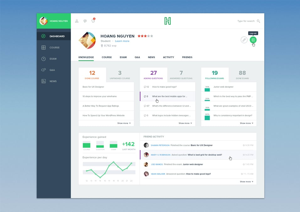 Course Dashboard PSD