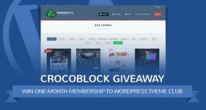 CrocoBlock Giveaway: Win One-Month Membership to a WordPress Theme Club