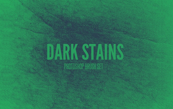 Dark Stains Photoshop Brush Set