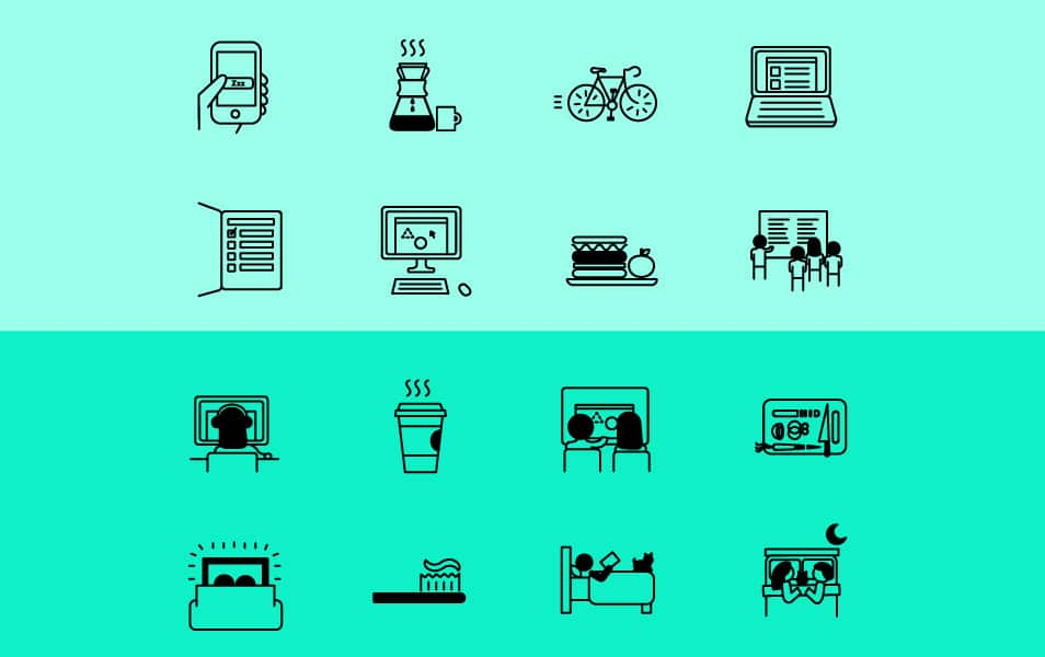 Day in the Life Icon Set