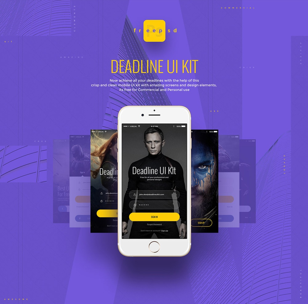 Deadline UI Kit PSD