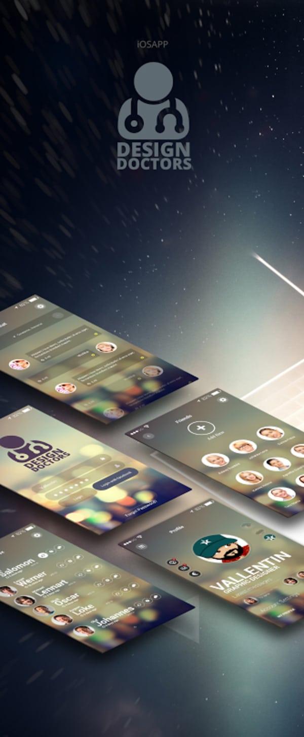 Design Doctors - Social UI App PSD