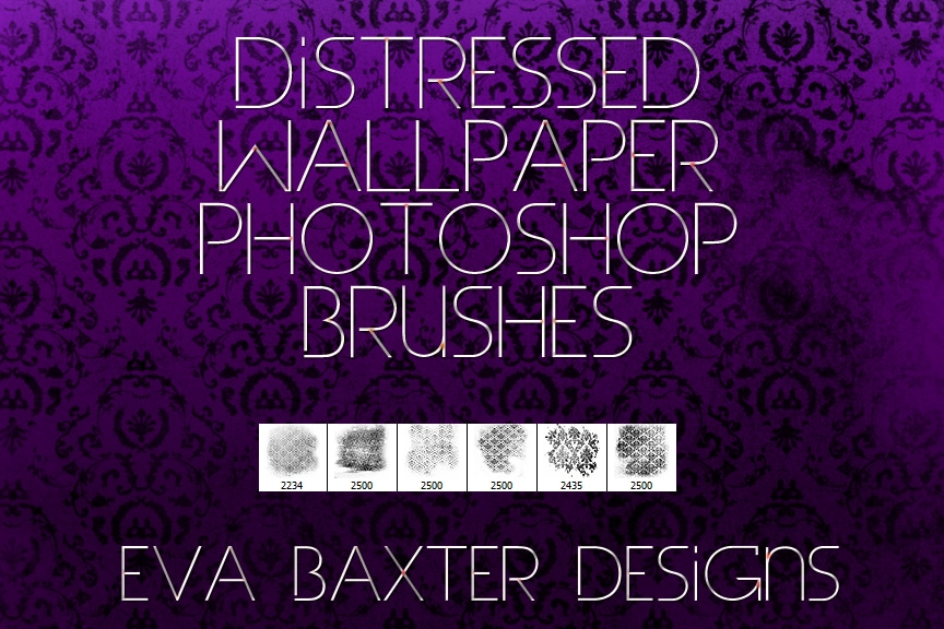Distressed Wallpaper Brushes