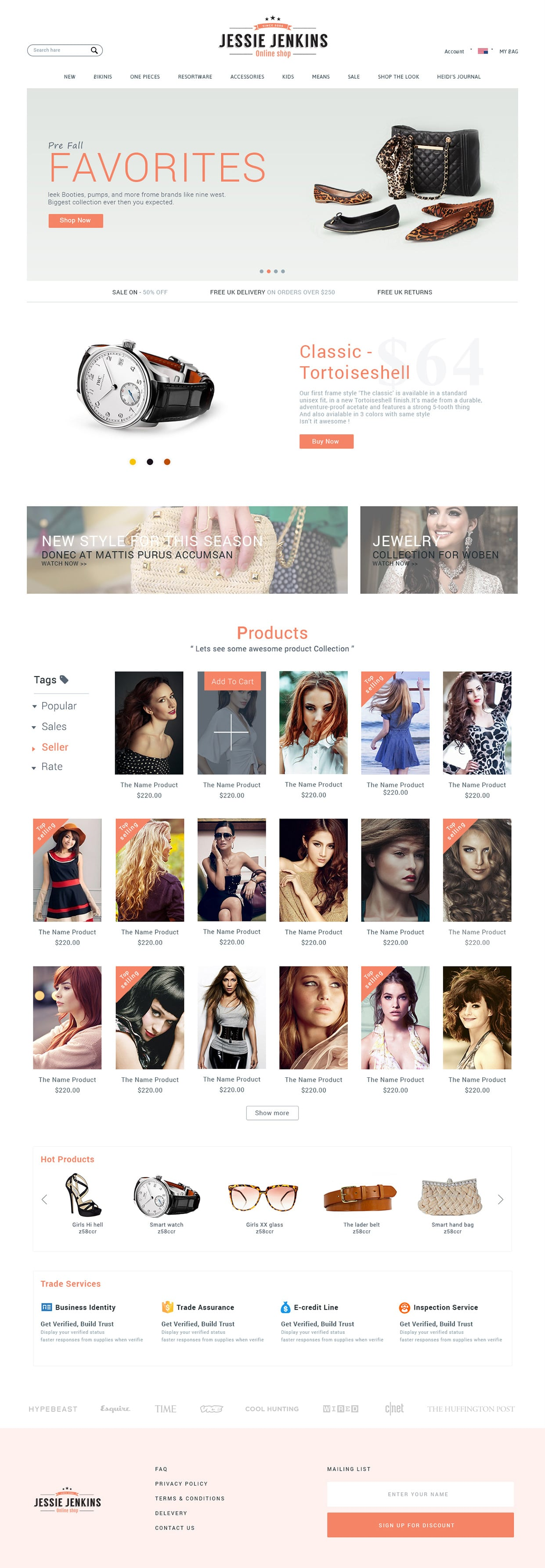 E Commerce Web UI Design Free PSD