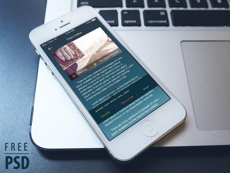 Ebook Reader App UI Kit PSD